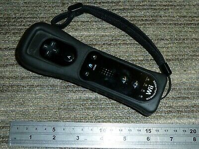 NINTENDO Wii & U OFFICIAL WIIMOTE MOTION PLUS REMOTE GAME CONTROL Black Wireless