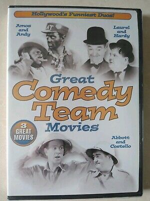 The Great Comedy Team Movies DVD Abbott & Costello Laural&Hardy Amos&Andy