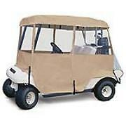 Deluxe 4 Sided golf Car Cart Enclosure - 4 Person Carts Sand