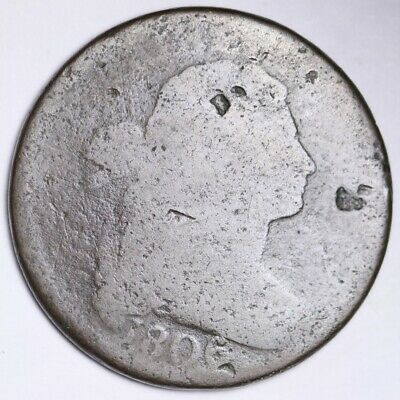 1806 Draped Bust Large Cent CHOICE FREE SHIPPING E103 ACH