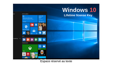 Microsoft code Windows 10 pro 2019 32/64bit Genuine  Lifetime license Key