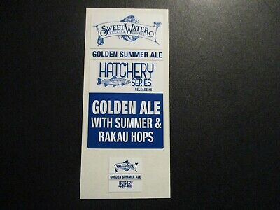 SWEETWATER BREWING Hatchery Series Gold rct STICKER SET decal craft beer brewery