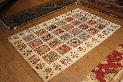 GREAT DEAL ON FINE QUALITY HANDMADE HAND KNOTTED PERSIAN COLORFUL beige floral