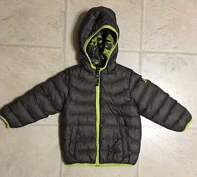 dd40bcc47 SNOZU Dark Gray Green DOWN Filled Winter Puffer Fleece Lined Jacket Coat  Size 2T