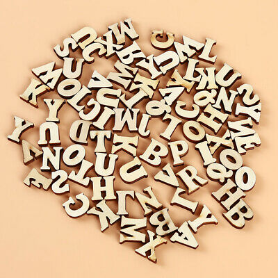 Wooden Letters English Alphabet Word Name Art Craft Free Standing Heart Shape