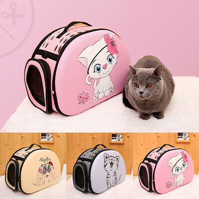 Portable Carrier House Foldable Sleeping Puppy Cat Pet Bag 3D Pattern Travel