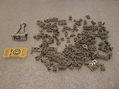 LEGO Modified Plate 1x1 1x2 2x2 Handle Clip Bar Old Light Brownish Gray 120pcs
