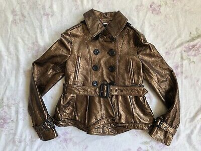 BURBERRY Children Mädchen Jacke Leder Gr.122 6-7 years girls leather jacket belt