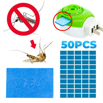 50x Mosquito Repellent Insect Bite Mat Tablets Refills Replace Pest Repeller