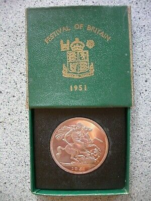 1951 Festival Of Britain Crown Green Box - George Vi