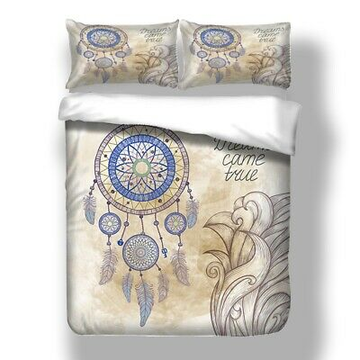 Dream Catcher Feature Quilt/Doona/Duvet Cover Set Single Queen King All Size Bed