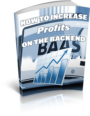 How To Increase Profits On The Backend Ebook free shipping Master Resell Rights