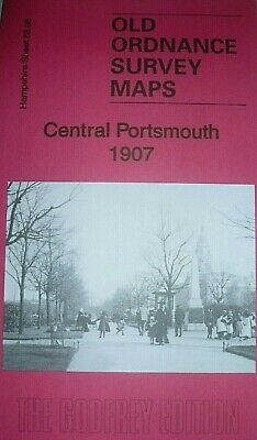 Old Ordnance Survey Maps Central Portsmouth Hampshire 1907 Godfrey Edition New