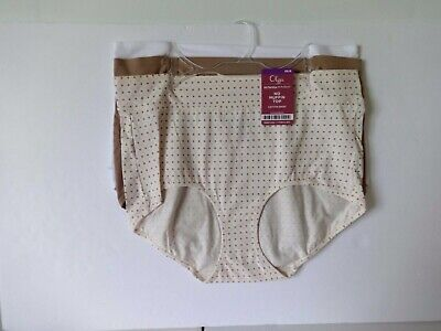 589a7122d484 Olga No Muffin Top 3 pack cotton brief panties plus size 9/2XL style GS8943R