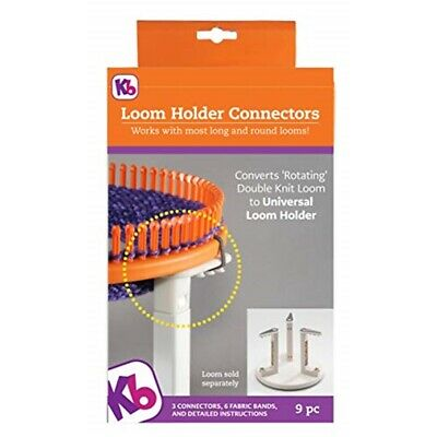 Knitting Board Loom Holder Connectors-3 Connectors & 9 Fabric Bands