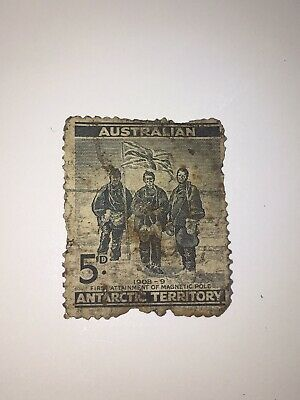 Antique Stamp 1908 Australian Antarctic Territory First Attainment Magnetic Pole
