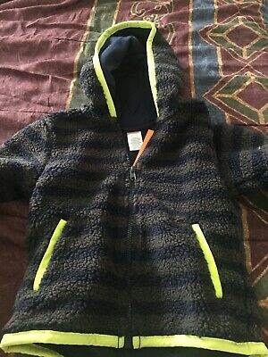 Gymboree Sweater Weather Fleece Lined Hoodie Jacket Gray Blue Size 2T 3T NWT