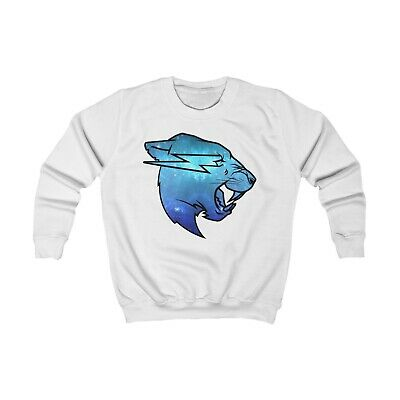 MR BEAST Blue Galaxy Logo Sweatshirt KIDS Merch 3-12 Years Birthday Gift
