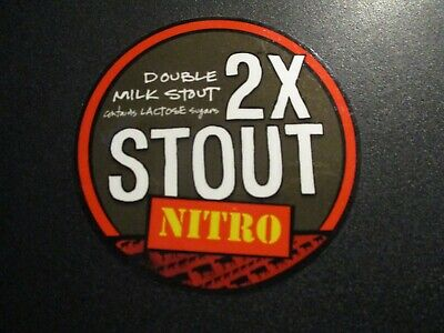 SOUTHERN TIER BREWING circle 2X STOUT NITRO STICKER decal craft beer brewery