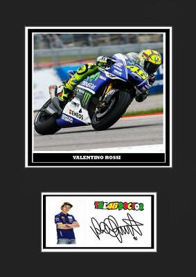 (#120) valentino rossi   signed  a4 photo/mounted/framed (reprint) great gift ##