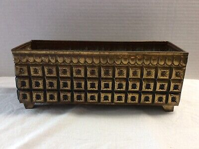 VTG Made In England BRASS FOOTED FLOWER POT PLANTER NO. 933077