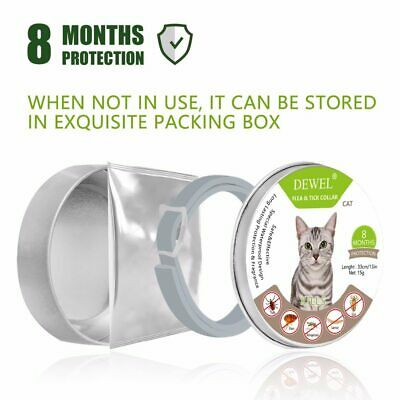 BAYER SERESTO DEWEL CATS Flea And Tick Collar For Cats 8 Month Protection