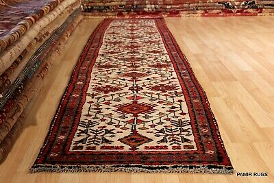 ON SALE ANTIQUE 10.5 FT. LONG PERSIAN HERIS Authentic Circa 1930's hall runner