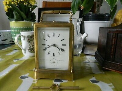 French Repeater Alarm Clock Carriage Spares Or Repair