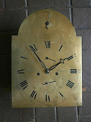 C1780  8 day strike sielent  LONGCASE GRANDFATHER CLOCK DIAL+movement 12X16+1/2