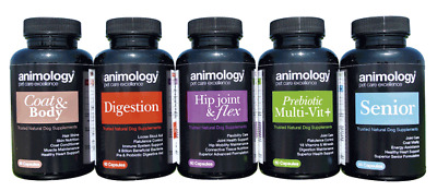 Animology supplements Senior Joint Digestion Coat 60 Capsules Brand New in Box