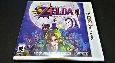 Original First Print The Legend of Zelda Majora's Mask 3D Brand New Nintendo 3DS