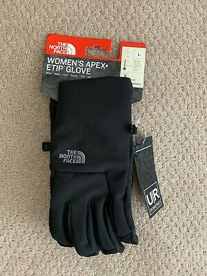 NEW The North Face Women's APEX+ ETip Gloves Size L Black