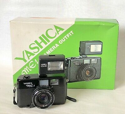 Vintage Yashica ME-1 35mm Camera Outfit with Flash Yashica CS-10.