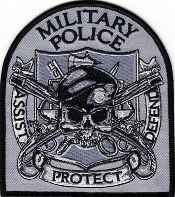 U. S.  ARMY   MILITARY  POLICE    Patch      ~ GRAY  BACKGROUND ~