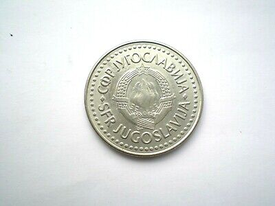 LARGE 100 DINAR COIN FROM THE FORMER YUGOSLAVIA-DATED -1987-high grade