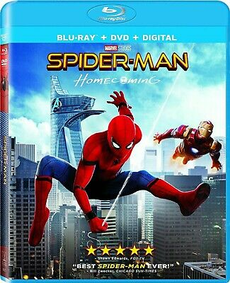 Blu-Ray Spider-Man : Homecoming (Blu-ray / DVD, Copie Numérique) Neuf