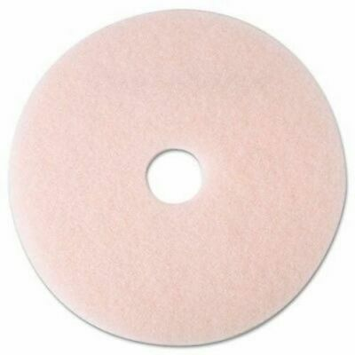 "3M 3600 Eraser Burnish Pads, 20"" Diameter, Pink, Case of 5 Pads (Damaged Box)"