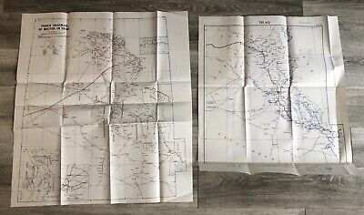 World War II Maps Iraq Middle East Transjordan Original Lot 2 Baghdad Basra