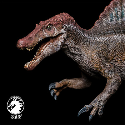 W-Dragon Spinosaurus Statue Dinosaur Model Spino Figure Collector Toy IN STOCK