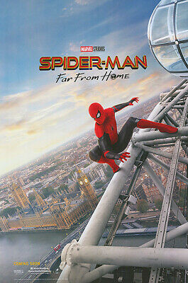 Spider-man Far From Home Adv UK  Original Movie Poster Double Sided 27x40