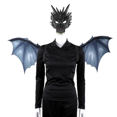 d311f23c4 Cospty Halloween Carnival Costume Dragon Cosplay Masquerade Face Mak and  Wings