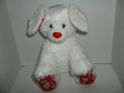 babw build a bear workshop merry mint white peppermint candy dog puppy plush