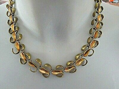 DESIGN COLLIER ° Vintage ° Messing ° BAUHAUS TRADITION °