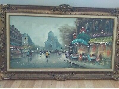 Early 50's original Antonio devity fine art oil painting