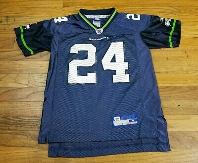 3bb99e516 Shawn Springs Seattle Seahawks Youth Medium Jersey M Kids Boys Girls 24 12s