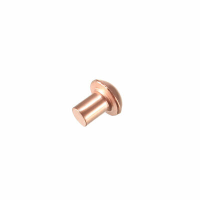 uxcell 50 Pcs 5//32 inches x 5//16 inches Round Head Copper Solid Rivets Fasteners