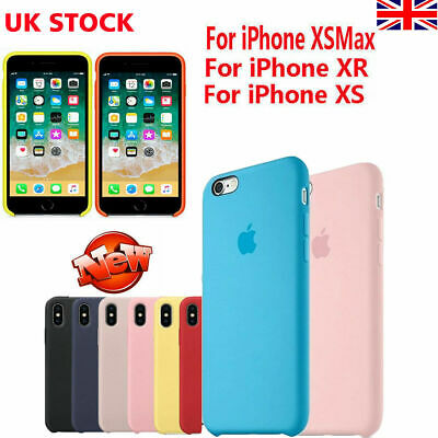Genuine Official Cover for iPhone XS Max XR 8 7 6s Plus Silicone Shockproof Case