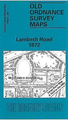 OLD ORDNANCE SURVEY MAP Lambeth Road 1872: London Large Scale 07.94