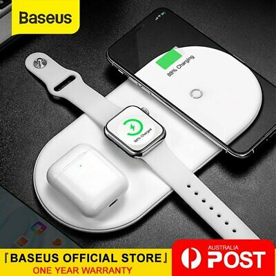 Baseus 3 in 1 Qi Wireless Charger for iPhone X XS Max Airpods 2 Apple Watch 4 3
