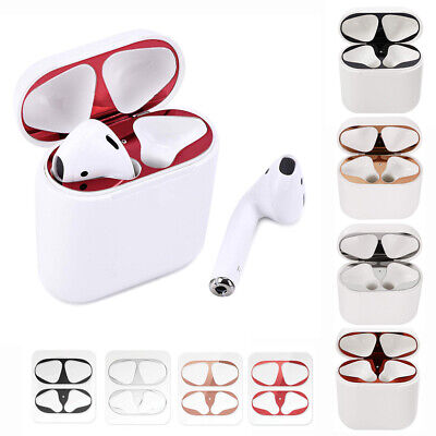 2X Metal Dust Guard Protective Film Sticker Cover For Apple Airpods Accessories